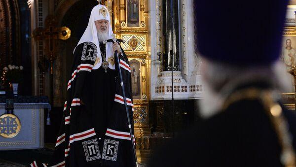Патриарх Московский и всея Руси Кирилл. Архивное фото - Sputnik Азербайджан
