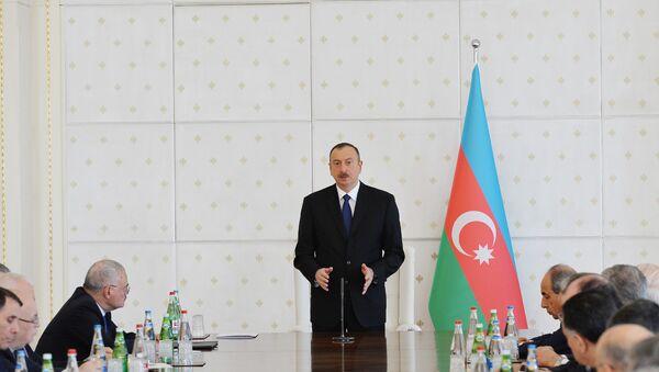 Выступление Президента Ильхама Алиева на заседании Кабинета министров Азербайджана - Sputnik Азербайджан