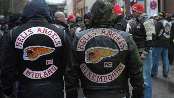 Байкеры из группировки Hells Angels. Архивное фото - Sputnik Азербайджан