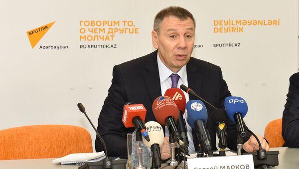 Пресс-конференция члена ОП РФ Сергея Маркова  Sputnik Азербайджан - Sputnik Azərbaycan