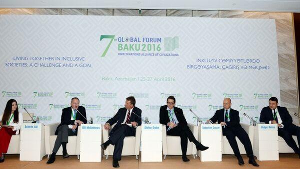 Bakıda BMT Sivilizasiyalar Alyansının 7-ci Qlobal Forumu işə başladı - Sputnik Azərbaycan