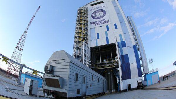 Первый запуск ракеты с нового российского космодрома Восточный. Архивное фото - Sputnik Азербайджан