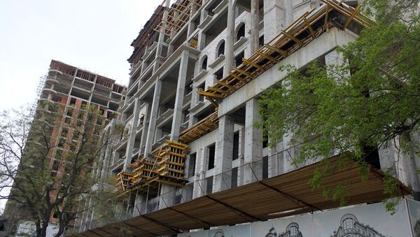 Строящееся здание, фото из архива - Sputnik Азербайджан