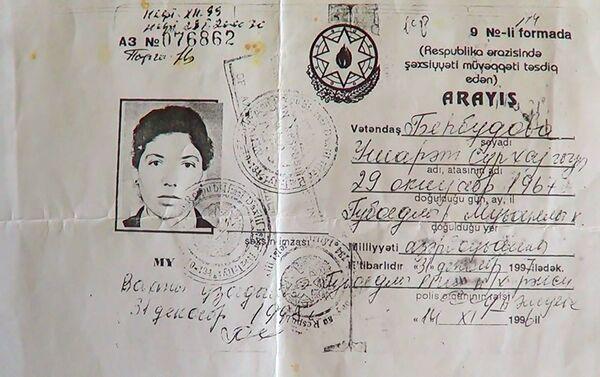 Справка по форме 9, выданная на имя Бехбудовой Ушарат Сурхай гызы - Sputnik Азербайджан