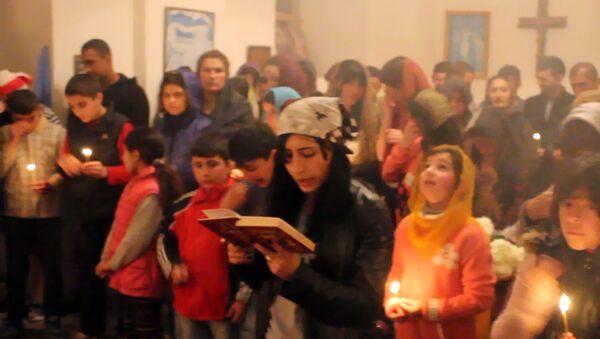 Жители деревни Кётукли Гахского района, так же как и остальные православные христиане, отмечают Пасху - Sputnik Азербайджан