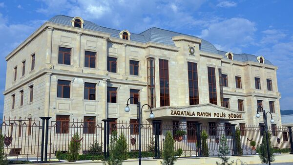 Здание отделения полиции Закатальского района. Архивное фото - Sputnik Азербайджан