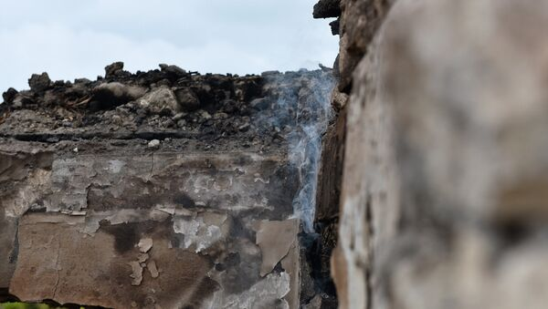 Разрушенные дома Агдамского района - Sputnik Азербайджан