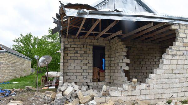 Разрушенные дома Агдамского района, архивное фото - Sputnik Азербайджан