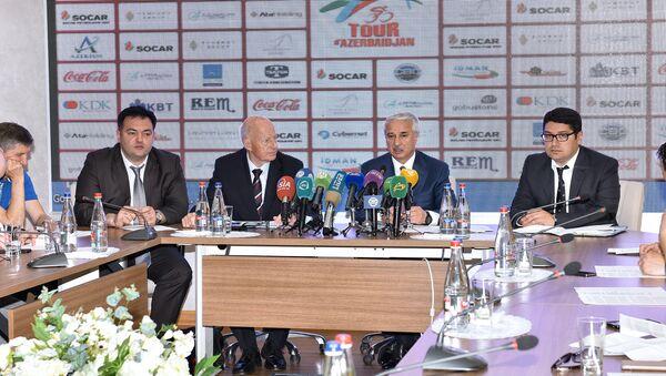Пресс-конференция «Tour d`Azerbaidjan-2016» - Sputnik Азербайджан