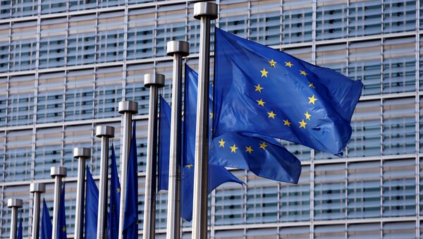 Флаги ЕС, фото из архива - Sputnik Азербайджан