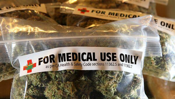 Пакеты марихуаны для использования в медицинских целях. Архивное фото - Sputnik Azərbaycan