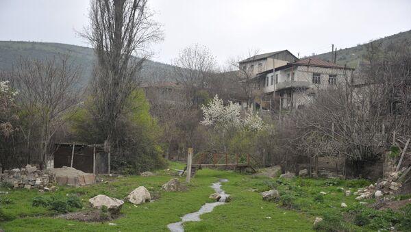 Вид на оккупированный город Агдере, Азербайджан - Sputnik Азербайджан