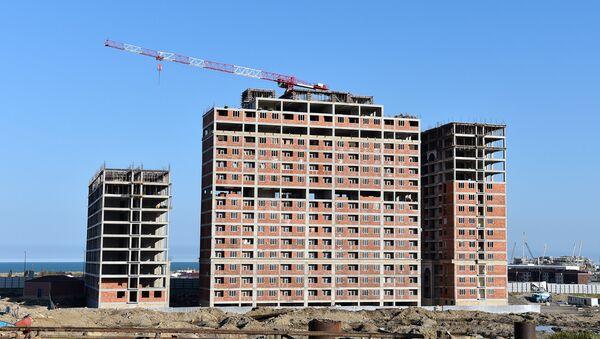 Строительство жилых домов в Баку, фото из архива - Sputnik Азербайджан