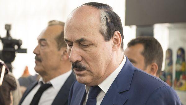 В Баку прошла встреча Главы Республики Дагестан Р. Абдулатипова с соотечественниками - Sputnik Азербайджан
