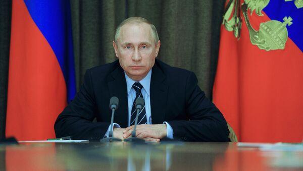 Президент РФ В. Путин провел совещание с военными в Сочи - Sputnik Азербайджан