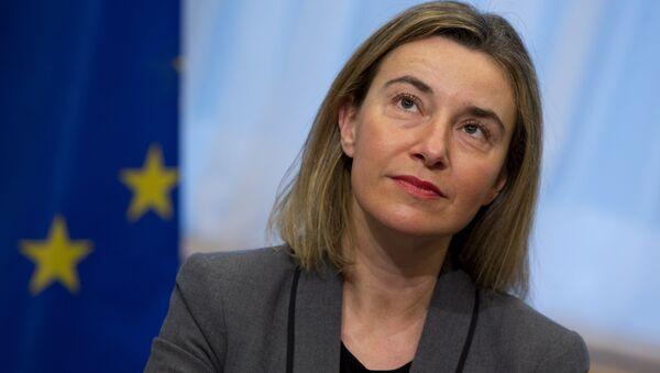 Глава дипломатии Европейского Союза Федерика Могерини - Sputnik Азербайджан