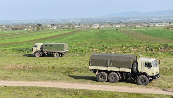 Военная техника на территории Физулинского района, фото из архива - Sputnik Азербайджан
