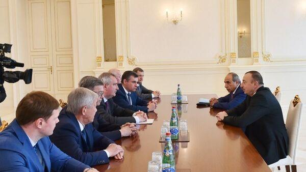 Встреча президента Азербайджана с вице-премьером РФ - Sputnik Азербайджан