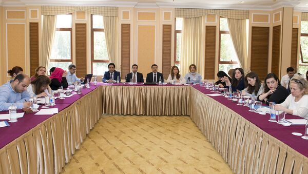 Участники семинара Государственного агентства по обязательному медицинскому страхованию при Кабинете Министров АР - Sputnik Азербайджан
