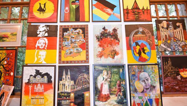 Германия глазами одного художника – выставка-конкурс в Kapellhaus - Sputnik Азербайджан