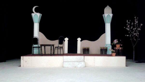 Qazax Dövlət Dram Teatrının səhnəsi - Sputnik Azərbaycan