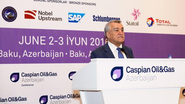 Выступление министра энергетики Натига Алиева в конференции Caspian Oil&Gas-2016 в Баку - Sputnik Азербайджан