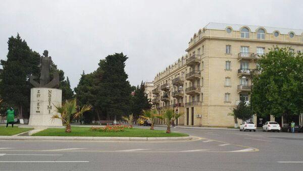 Пальмы в центре Сумгайыта - Sputnik Азербайджан