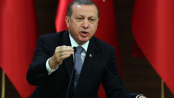 Реджеп Тайип Эрдоган, президент Турции - Sputnik Azərbaycan