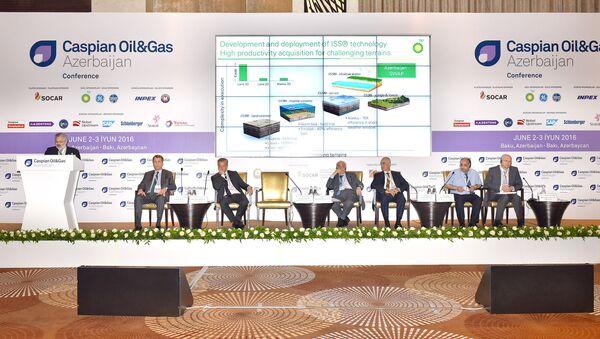 Второй день XXIII Международной выставки и конференции Нефть и Газ Каспия - Sputnik Азербайджан