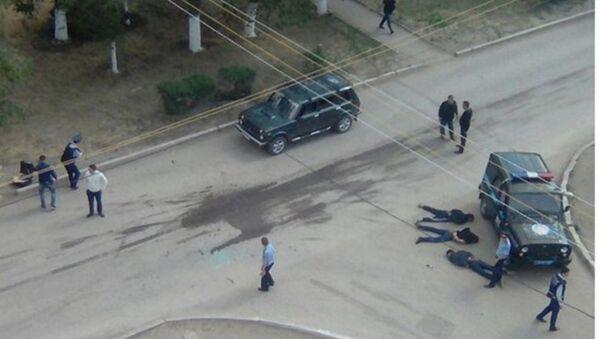 Перестрелка в городе Актобе, Казахстан - Sputnik Азербайджан