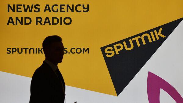 Cтенд международного информационного агентства и радио Sputnik - Sputnik Азербайджан