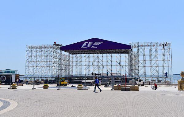 Подготовка к гран-при Европы по Формуле-1 в Баку - Sputnik Азербайджан