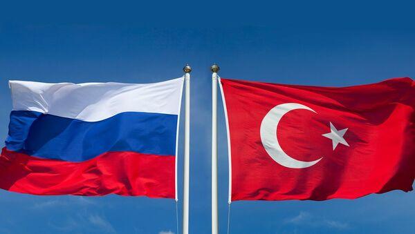 Флаг России и Турции - Sputnik Азербайджан