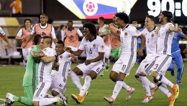 Футболисты сборной Колумбии - Sputnik Азербайджан