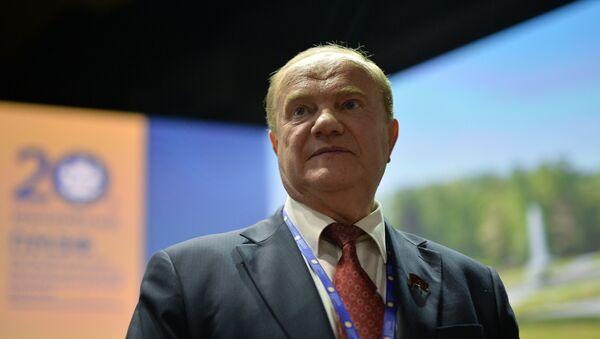 Руководитель фракции партии Коммунистическая партия Российской Федерации Геннадий Зюганов - Sputnik Азербайджан