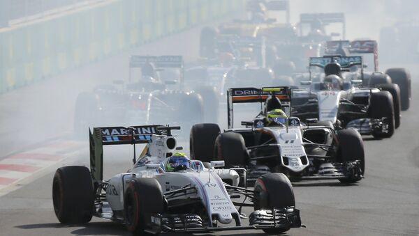 Williams komandasının braziliyalı pilotu Felipe Massa Avropa Qran Prisinin startında - Sputnik Azərbaycan
