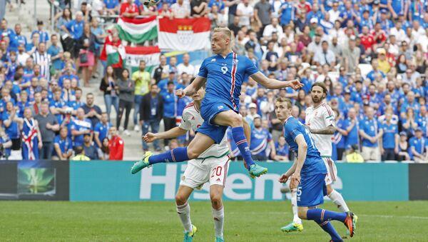 Матч Исландия – Венгрия на ЕВРО-2016 - Sputnik Азербайджан