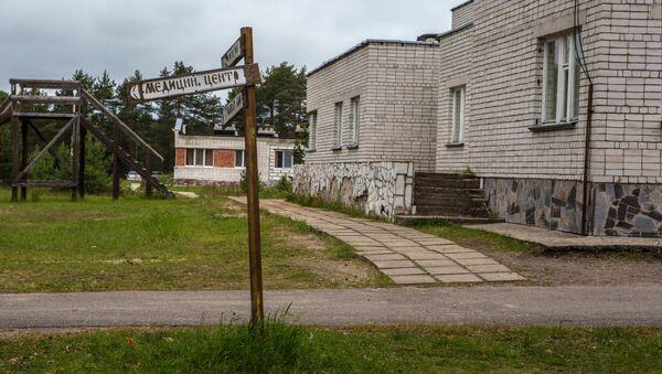 Один из корпусов детского лагеря Парк-отель Сямозеро, где проживали дети - Sputnik Азербайджан