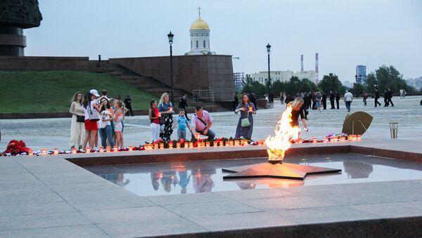 VIII Международная мемориальная акция Свеча памяти - Sputnik Азербайджан