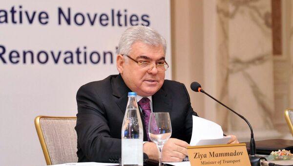 Ziya Məmmədov, Azərbaycan Respublikasının nəqliyyat naziri - Sputnik Azərbaycan