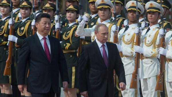 Официальный визит президента РФ В. Путина в Китайскую Народную Республику - Sputnik Азербайджан