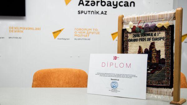 Азар Рагимов наградил Sputnik Азербайджан - Sputnik Азербайджан
