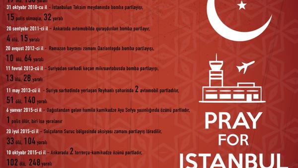 Son 10 il ərzində Türkiyədə baş verən terror hadisələrinin xronologiyası - Sputnik Azərbaycan