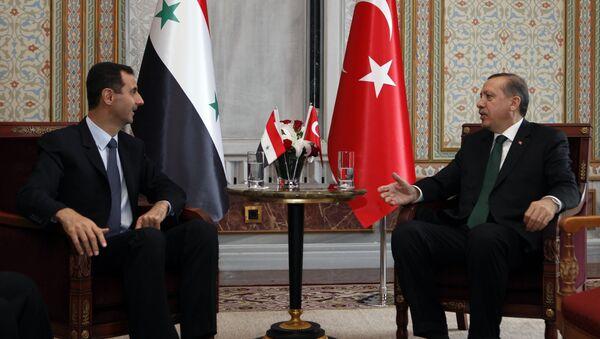Встреча Раджапа Таййипа Эрдогана и Башара Асада в Стамбуле. 7 июня 2010 года - Sputnik Azərbaycan