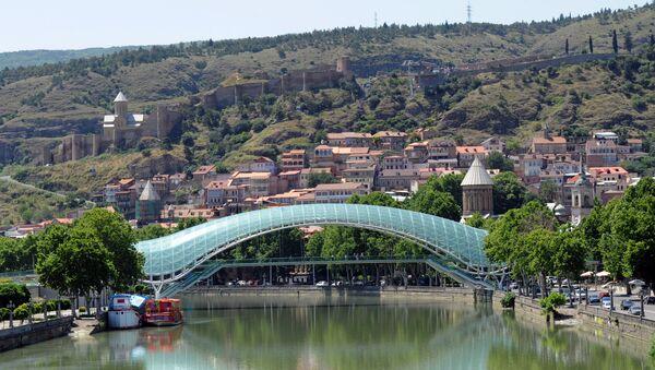 Вид на центральную часть Тбилиси, фото из архива - Sputnik Азербайджан