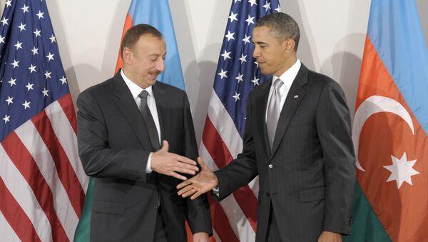 Президент Обама приветствует Президента Азербайджана Ильхама Алиева. Нью-Йорк, 24 сентября 2010 - Sputnik Азербайджан