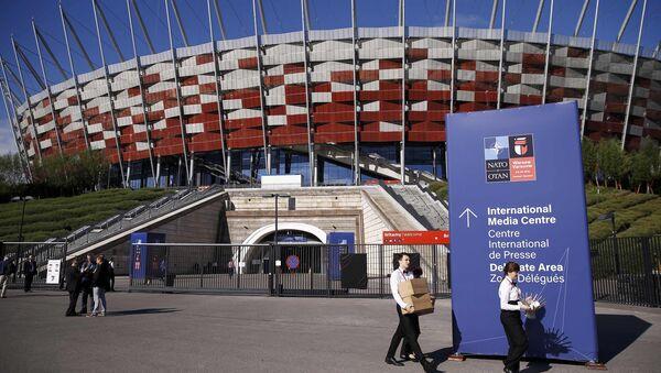 Национальный стадион в Варшаве, где проходит саммит НАТО - Sputnik Азербайджан