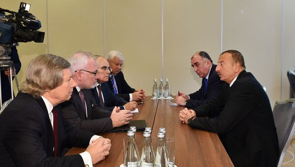 Встреча президента Азербайджана Ильхама Алиева с сопредседателями МГ ОБСЕ - Sputnik Азербайджан