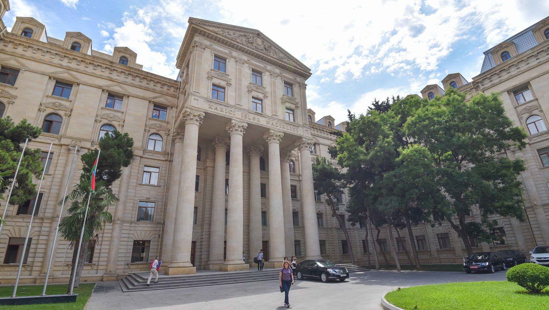 Здание Министерства иностранных дел Азербайджанской Республики в Баку - Sputnik Азербайджан, 1920, 16.09.2021
