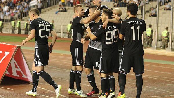 Qarabağ Lüksemburq çempionu Düdelanj qarşı oyunda - Sputnik Azərbaycan